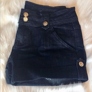 Dark denim shorts
